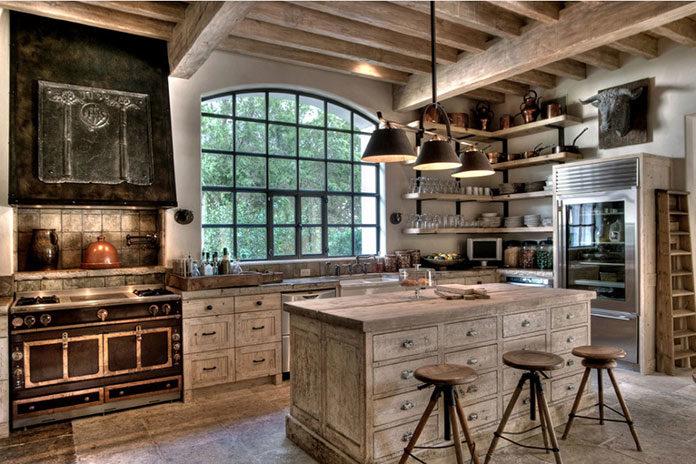 Rustykalne dodatki w kuchni